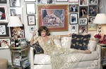 JOAN COLLINS AT HOME IN LA