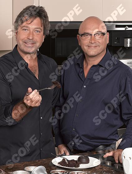 MASTERCHEF ' S JOHN TORODE AND GREGG WALLACE WITH TV PRESENETR D